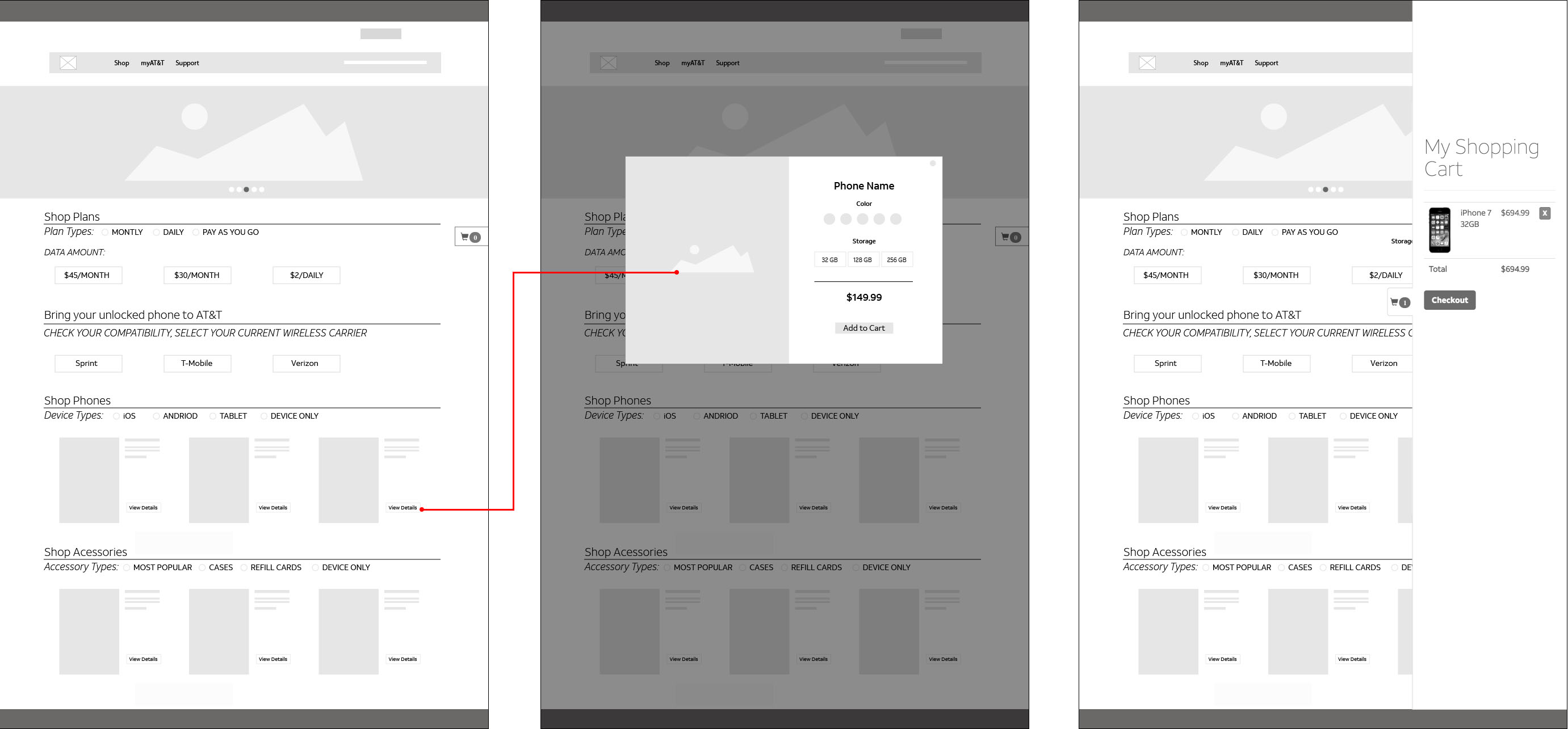 Go Phone Wireframe